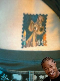 "...... ""Yo, dawg, I heard you like tramp stamps so I put a Tramp stamp in your tramp stamp..."""