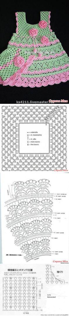 платья и сарафаны крючком | Записи в рубрике платья и сарафаны крючком | Дневник tusendria