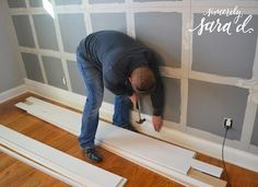 Square Paneled Wall Treatment - Sincerely, Sara D.