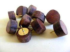 10 x  Apple Wood Thumbtacks Handmade  Apfelholz by Trendsandgoods, $6.00