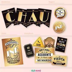 Gráfica #despedidadesoltera #chausolteria #banderines #cartel #props #photobooth #topper #deco #tribadiseño #buhoambientaciones