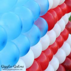 4th of July Flag Balloon Dart Game...fill the balloons w/candy and treats...