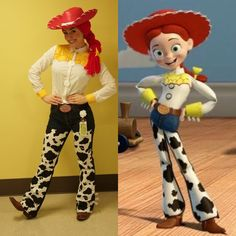 DIY Toy Story Jessie Halloween Costume Idea Source by maskerix Jessie Halloween Costume, Woody And Jessie Costumes, Horse Halloween Costumes, Woody Costume, Halloween Toys, Fete Halloween, Diy Costumes, Costume Ideas, Jessie Toy Story