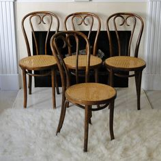 Vintage Chair Cane Cafe Thonet Bentwood Mid Century Hand Caned Seat Desk Chair Dining Natural Seating Retro Chinoiserie Furnishings