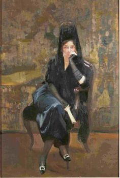 Clotilde con mantillanegra  1920 Joaquin Sorolla y Bastida (Museo Sorolla Madrid)