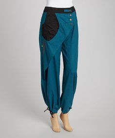 Take a look at this Teal & Black Pants by Coline USA on #zulily today! $28 !!