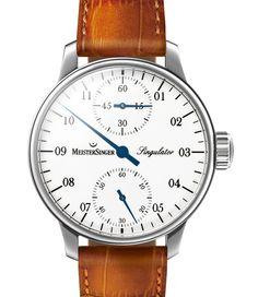 MeisterSinger | Singulator weiß | Edelstahl | Uhren-Datenbank watchtime.net