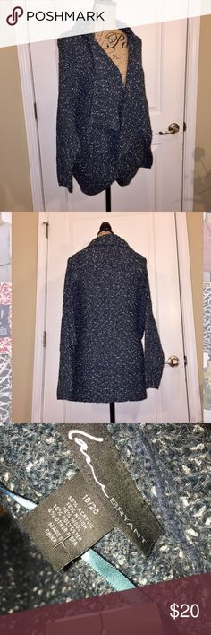 NWT Lane Bryant cocoon sweater Blue marbled sweater. Open front. Cozy sweater to wrap up in Lane Bryant Sweaters