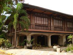 Philippine Former President, Ferdinand E. Marcos' Ancestral House in Batac City, Ilocos. Filipino Architecture, Philippine Architecture, Tropical Architecture, Architecture Design, Philippine Houses, House On Stilts, Bamboo House, Modern Home Interior Design, Spanish House