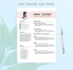 Resume For Teachers Format Classy Modern Resume Template  Cv Template  Professional And Creative .