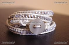 SewPetiteGal: Leather Wrap Bracelet DIY w/ Tutorial - Version 2