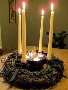 My Imbolc Candle Wheel