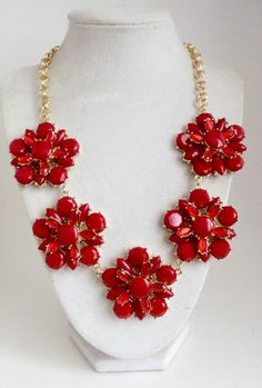 Halskette Halskette rot-Anweisung klobige von SEPearlsAndMore