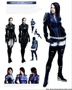 Ashley Williams –from The Art of the Mass Effect Universe Click HERE for more parts of the artbook which includes concept art of other characters and places in the mass effect universe.