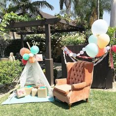 Modern-Boho-Baby-Shower-Teepee-Gifts