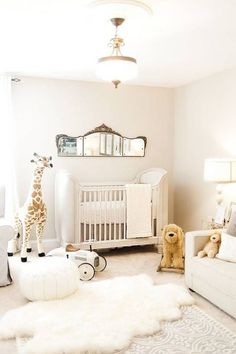 Baby nursery decor - Ideas para decorar la habitación del bebé - Neutral nursery