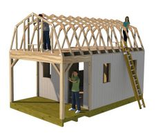 Awesome shed building is easy at shedking.net Diy Storage Shed Plans, Wood Storage Sheds, Wooden Sheds, Diy Shed, Firewood Storage, Storage Ideas, 8x12 Shed Plans, Wood Shed Plans, Shed Building Plans