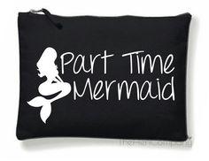 Part Time Mermaid Make-Up Bag Part Time Mermaid by TheHenCompany