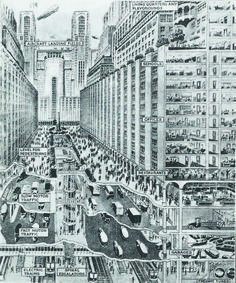 """Imagining the future: """"How you may live and travel in the New York of 1950""""."""