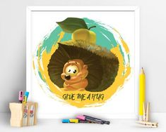 Items similar to Give me a hug hedgehog on Etsy Art Wall Kids, Wall Art, Hug, Hedgehog, Give It To Me, My Etsy Shop, Art Prints, Unique Jewelry, Handmade Gifts