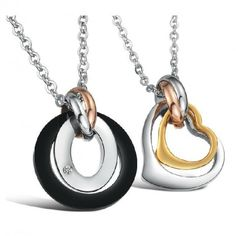 78cf247c95 Cheap Price Specials Europe / Korea Ornaments Fashion Jewelry Couple  Pendant Necklaces Gift for Lover. Tide Ring