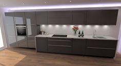 Modern Kitchen Design. Schuller German Kitchen In Glasline Glanz And  Glasline Matt (