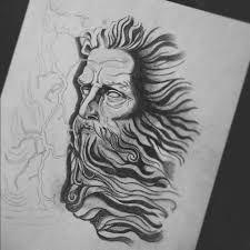 Resultado de imagen de zeus drawing