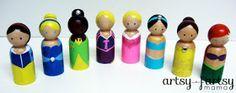 artsy-fartsy mama: Princess Peg Dolls