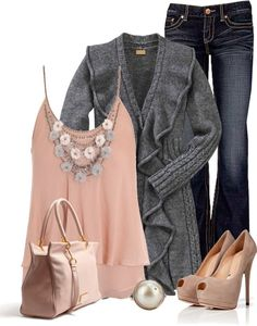 Grey and peach