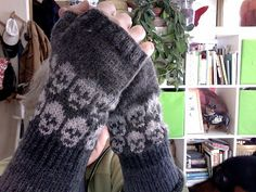 I much prefer my skull motif to the one I started (and ripped out). Ripped out the skulls in favor of my own design. Fingerless Gloves, Arm Warmers, Mittens, Knits, Ravelry, Knitting, Design, Fashion, Fingerless Mitts