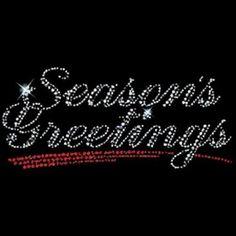 Season's Greetings- Rhinestones