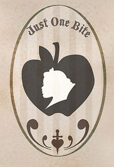 Snow White & poisoned apple silhouettes