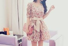 adorable beautiful bow clothes color cute dress dresses fantastico fashion floral floral dress flowery girl girly dresses girly girl hair loveit pink pretty purse short dress summer tumblr vintage