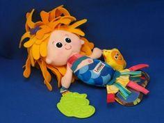 Lamaze Marina Mermaid Baby Teether Rattle Mirror Taggies Doll