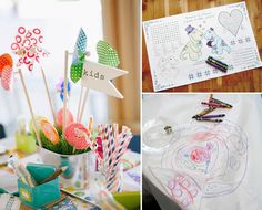 How to entertain kids at a wedding - kids table