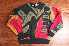 Men's vintage 90s Nike Air Jordan MVP print all over Sweatshirt Medium M michael