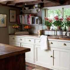 Country Cottage Kitchen Decor - English Country Cottage Decor Sweet English Country Kitchens 23 Best Cottage Kitchen Decorating Ideas And Designs For 2020 French Cottage Kitchen Insp. New Kitchen, Vintage Kitchen, Kitchen Wood, Kitchen Ideas, Kitchen Sink, Kitchen Cabinets, Kitchen Plants, White Cabinets, Kitchen Images