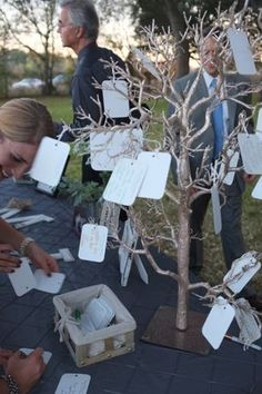 wishing tree & # of # wish Wedding Wishes, Wedding Cards, Diy Wedding, Rustic Wedding, Dream Wedding, Wedding Invitations, Wedding Day, Ideas Para Fiestas, Wedding Guest Book