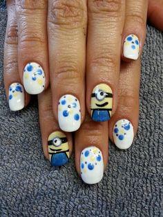 Minons nail art. :)