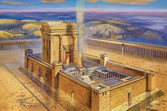 Light of the Second Jerusalem Temple - Original Oil painting by an Israeli artist Alex Levin Jewish Temple, Temple In Jerusalem, Jerusalem Israel, Jesus In The Temple, Solomons Temple, New Testament Bible, Bible Illustrations, Masonic Symbols, Jesus Painting
