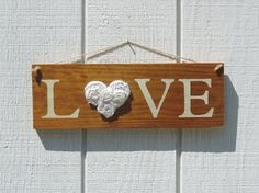 RusticReclaimed Wood Sign  Love  16 x 5 1/2 Rustic by itsourjoy
