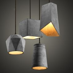 4 Types Cement Pendant Lamp Hanging Lamps For Living Room Restaurant Coffee Shop Lamparas Colgantes Hall Lighting Fixtures Concrete Light, Concrete Lamp, Artwork Lighting, Cool Lighting, Cheap Pendant Lights, Pendant Lighting, Edison Chandelier, Pendant Lamps, Industrial Lighting