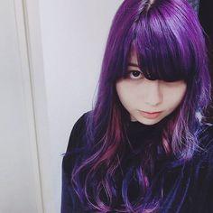 WEBSTA @ kae.mnd - New hair colors!!Purple and Pink💜😊かなり気に入った💕#violet #purple #pink #haircolor #purplehair #manicpanic #purplehaze #cleorose #マニパニ #マニックパニック #紫髪 #派手髪 #パープルヘイズ #クレオローズ #お気に入り