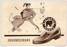 Original-Werbung/ Anzeige 1958 - JUGENDSCHUHE / MARKE ELEFANTEN - ca. 120 x 80 mm