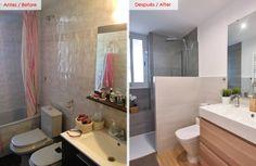 Ideas geniales para baños pequeños (De Yadira Espinoza - homify)