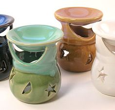 Oil Burners are a great necessity for aroma therapy. #aromatherapy #oilburner #essentialoil #celestial #stars #moons #colourchoice #wildwood