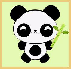Kawaii Baby Panda+Cute Bamboo by Rooshoo