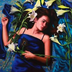 Fleeting Lilly by Vicki Sullivan  www.vickisullivan.com has won a second peoples choice prize in the Jacksons Mussini oil paint competition in London.Vicki accepts portrait commissions worldwide#portrait#Australianartist#oilpainting