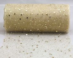 runner for the tables? 10-YARDS-Gold-Glitter-Tulle-Wedding-Centerpiece-Chair-Bow-Decoration