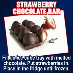 I'm totally doing thissss! Strawberry chocolate bar!